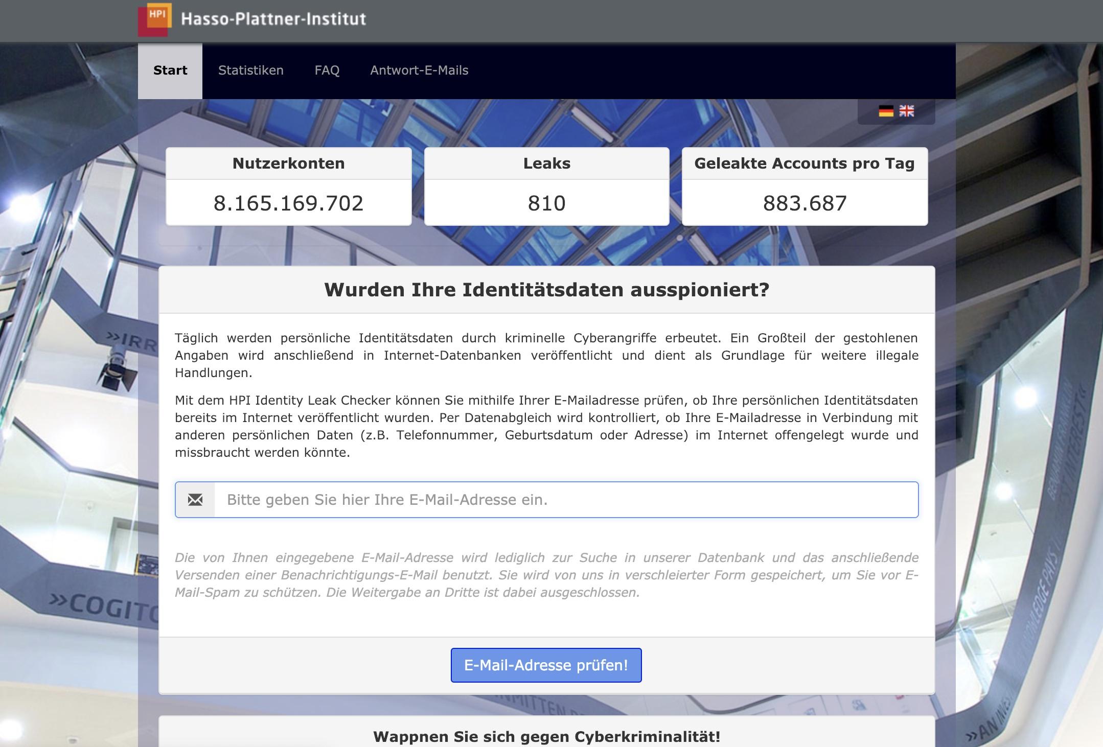 Passwort-Checker von HPI
