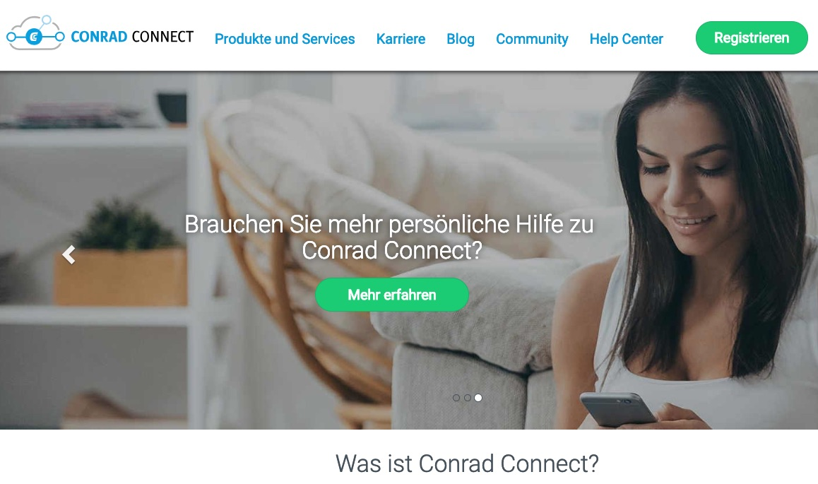 Conrad Connect startet Developer Portal